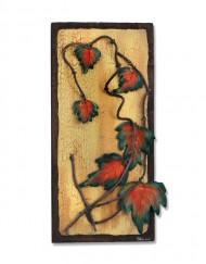 Διακοσμητικό τοίχου από ξύλο και κεραμικό