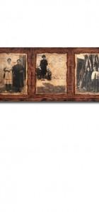 Διακοσμητικό τοίχου από ξύλο και παλαιωμένη φωτογραφία