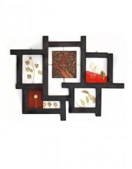 Διακοσμητικό τοίχου από ξύλο, μπρούτζο και οπαλίνες